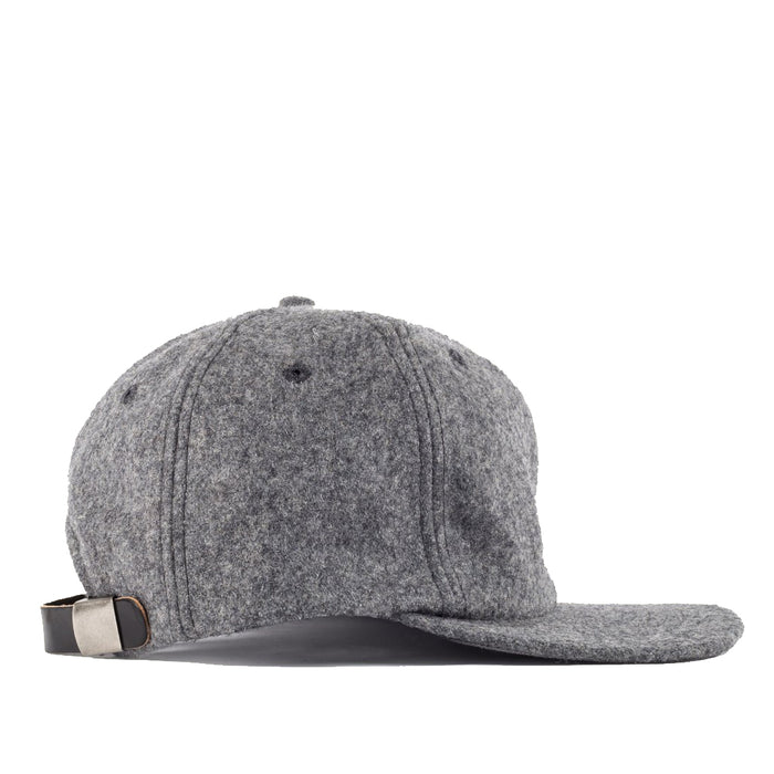 Viberg - Six Panel Grey Wool Hat with Shell Cordovan Strap