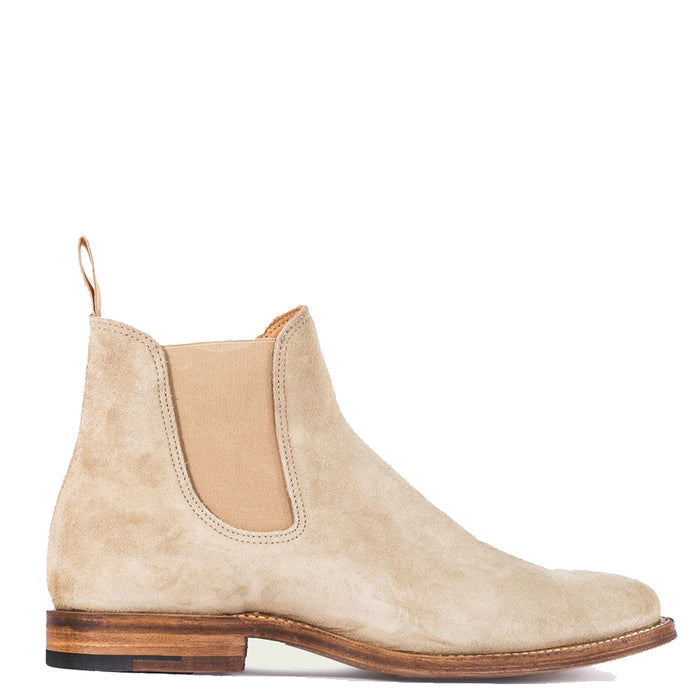 check out 35419 81a11 Viberg - Milkshake Suede Chelsea Boot 2050 Last