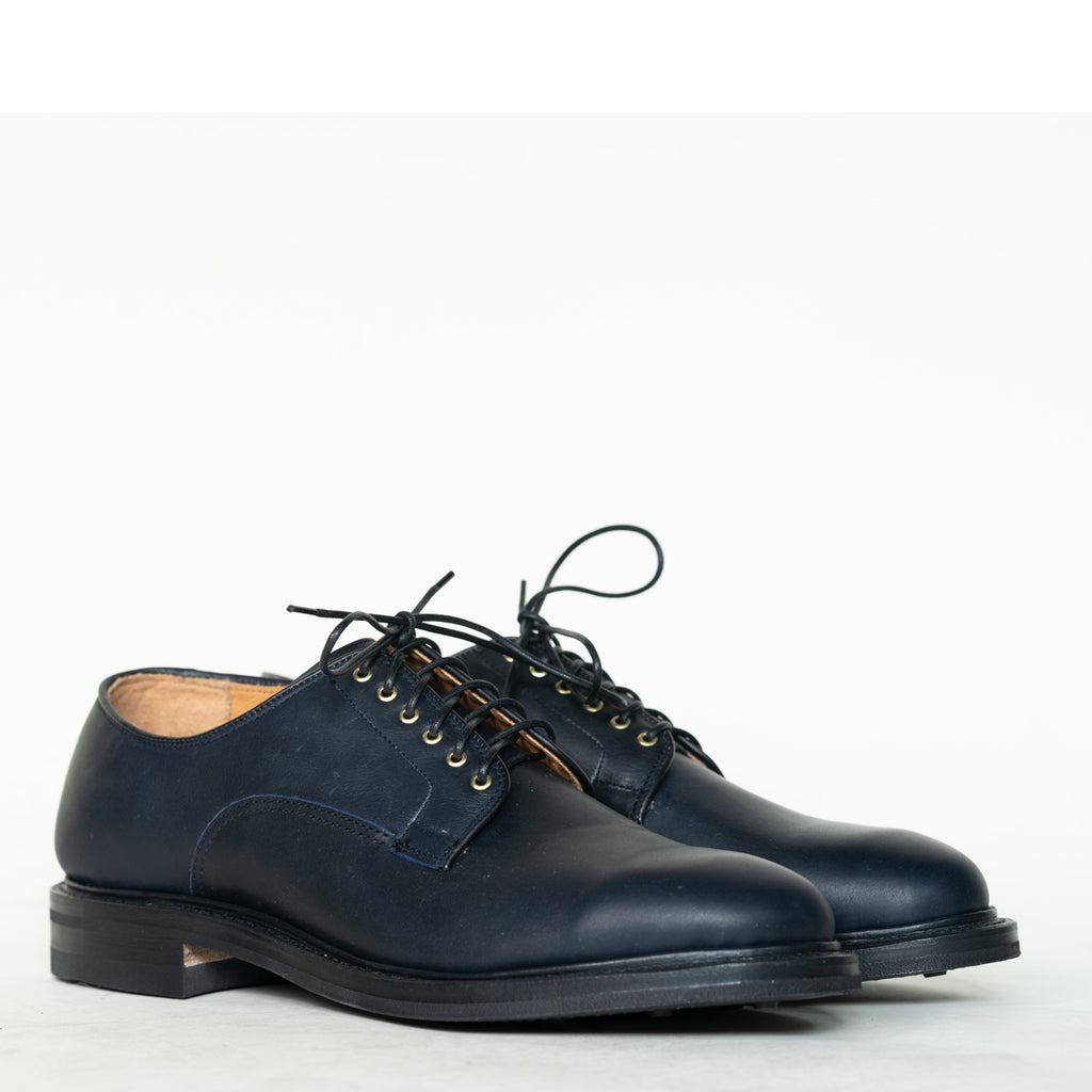 Viberg - Navy Oiled Calf Derby Shoe 2020 Last