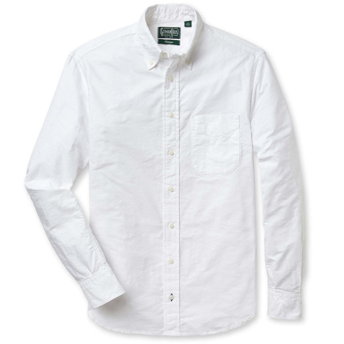 Gitman Vintage - White Oxford Button Up Shirt