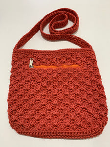 Crochet Bag - Medium Burnt Red