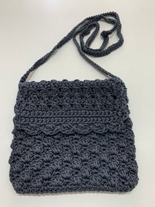 Crochet Bag - Small Dark Grey