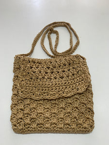 Crochet Bag - Small Sand Silver