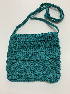 Crochet Bag - Small Teal