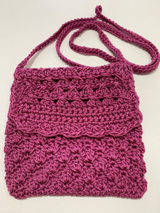 Crochet Bag - Small Magenta