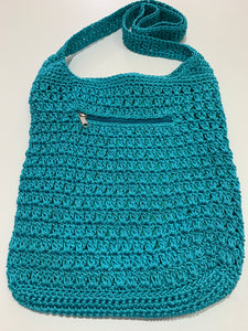 Crochet Bag - Large Aqua