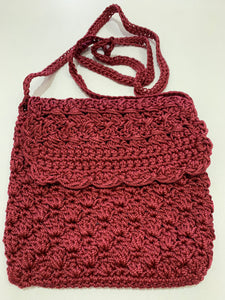 Crochet Bag - Small Burgundy