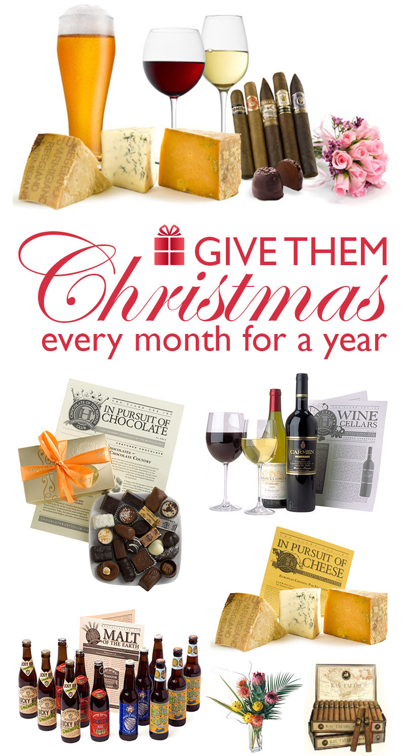 Give them Christmas every month for a year