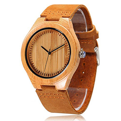 CUCOL Men's Bamboo Watch
