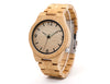 Bamboo Wooden Watch For Men Product Shot