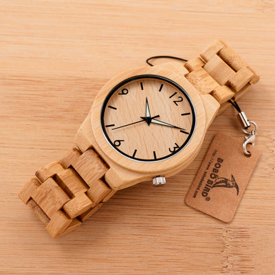 Bamboo Wooden Wrist Watch For Men