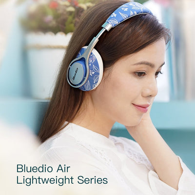 Young Lady wearing the Bluedio T2 Air