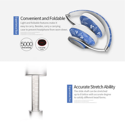 Bluedio T2 Air Bluetooth Lightweight Chic Headphones Foldable