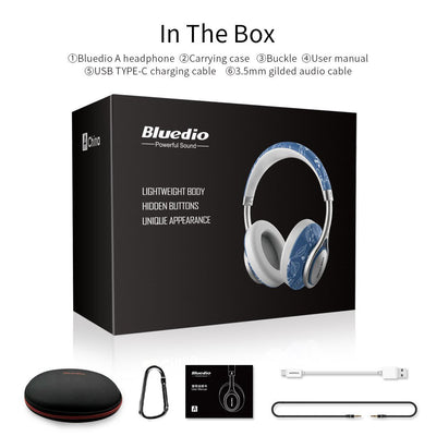 Bluedio T2 Air Bluetooth Lightweight Chic Headphones Packaging