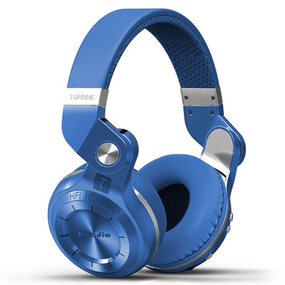 Bluedio T2s Wireless Bluetooth Headphones Blue