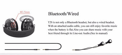 Bluedio T2s Wireless Bluetooth Headphones Bluetooth or Wired