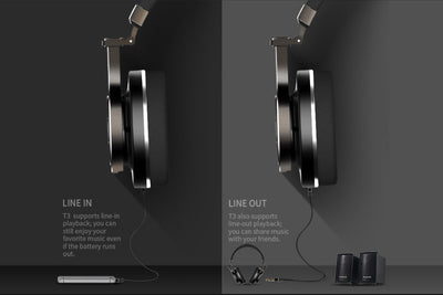 Bluedio T3 Bluetooh Foldable Headphones Line In & Out