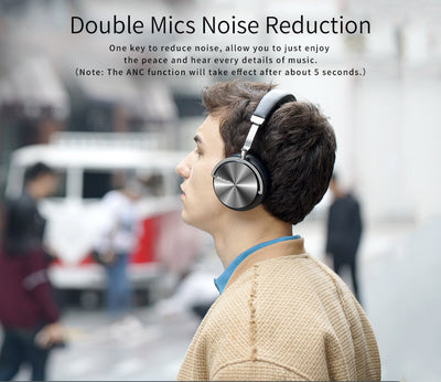 Bluedio T4 Bluetooth Noise Cancelling Headphones Double Mic Noise Reduction