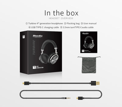 Bluedio T4 Bluetooth Noise Cancelling Headphones Packaging