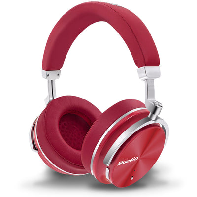 Bluedio T4 Bluetooth Noise Cancelling Headphones Red