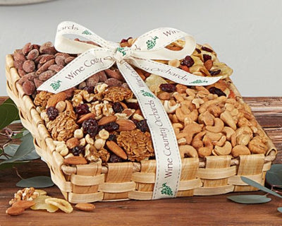Christmas Gift Baskets Wine Country Orchards Mixed Nut Tray