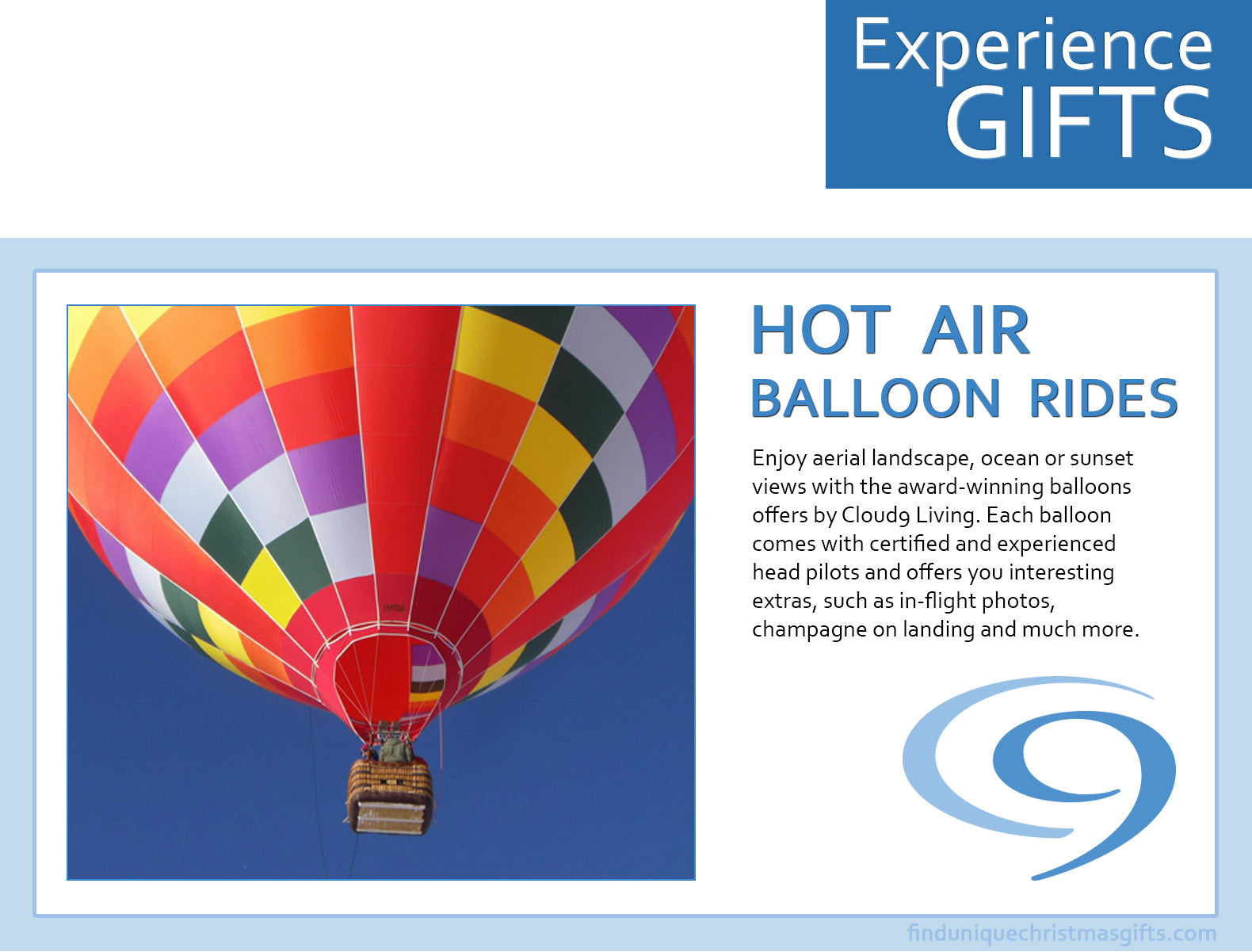 Hot Air Balloon Rides - Give a Shared Experience this Christmas ...