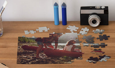 Custom Photo Puzzle On Table
