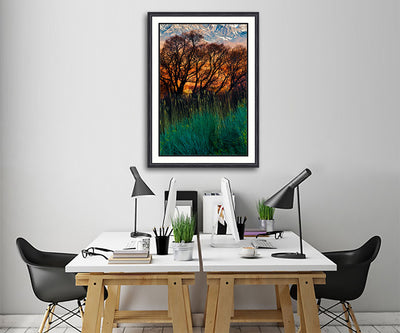 Fine Art Print Fiery Fields James K Watson Photography_Framed Print On Wall