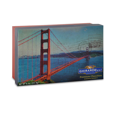 Ghirardelli Chocolate Golden Gate Bridge Box With Assorted Squares 18pc