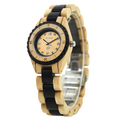 Handmade Women's Wood Watch Maple & Black