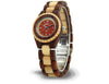 Handmade Women's Wood Watch Red & Maple