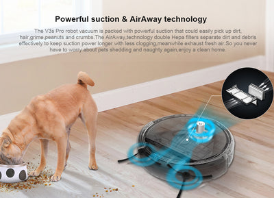 Pet Hair Robot Vacuum Cleaner ILIFE V3S Pro Hepa Filter