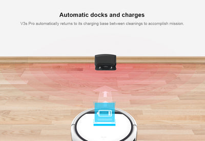 Pet Hair Robot Vacuum Cleaner ILIFE V3S Pro Automatic Docks And Charges