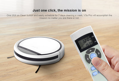 Pet Hair Robot Vacuum Cleaner ILIFE V3S Pro One Click Cleaning