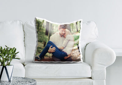 Photo Cushion Cover On Couch
