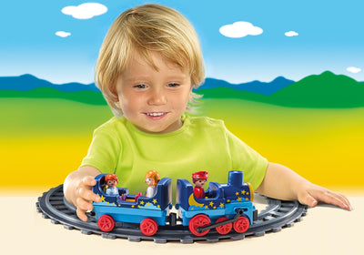 Playmobil Ages 1,2,3 Night Train With Track 6880 Photo