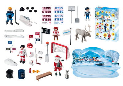 Playmobil Christmas And Advent Calendar Rivalry On The Pond 9017