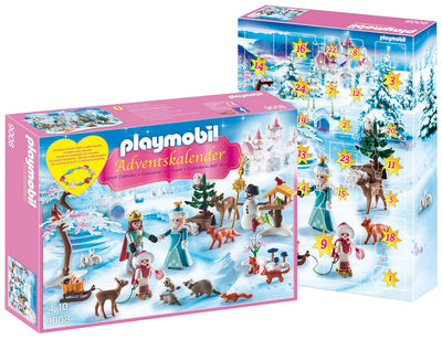 Playmobil Christmas And Advent Calendar Royal Ice Skating Trip 9008 Product Box