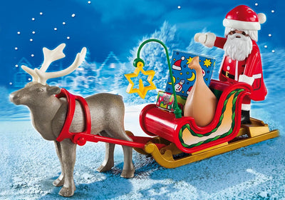 Playmobil Christmas And Advent Santa's Sleigh With Reindeer 5590