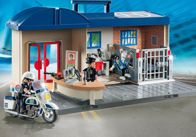 Playmobil City Action Take Along Police Station 5689