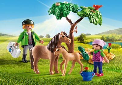 Playmobil Country Vet With Pony And Foal 5687