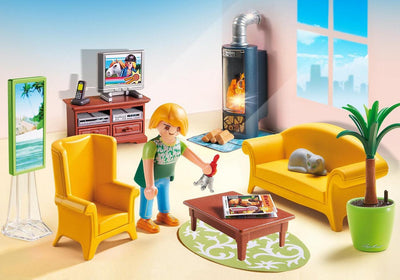 Playmobil Dollhouse Living Room Fireplace 5308