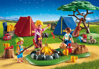 Playmobil Family Fun Camp Site With Fire 9153 Photo