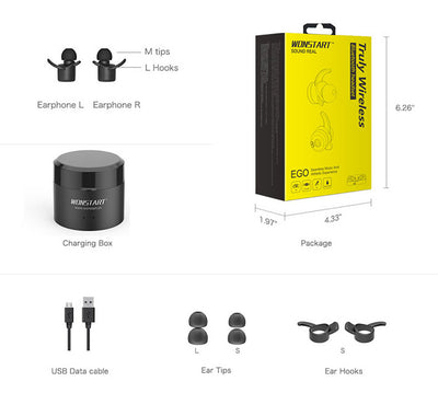 Truly Wireless Earbuds Wonstart W302 Packaging