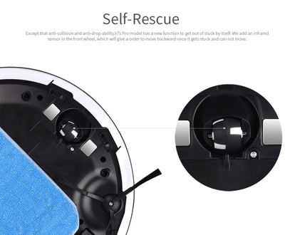 Wet Mopping Robot Vacuum Cleaner iLIFE V7s Pro Self Rescue