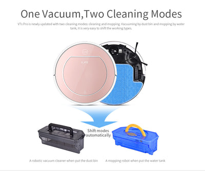 Wet Mopping Robot Vacuum Cleaner iLIFE V7s Pro Two Cleaning Modes