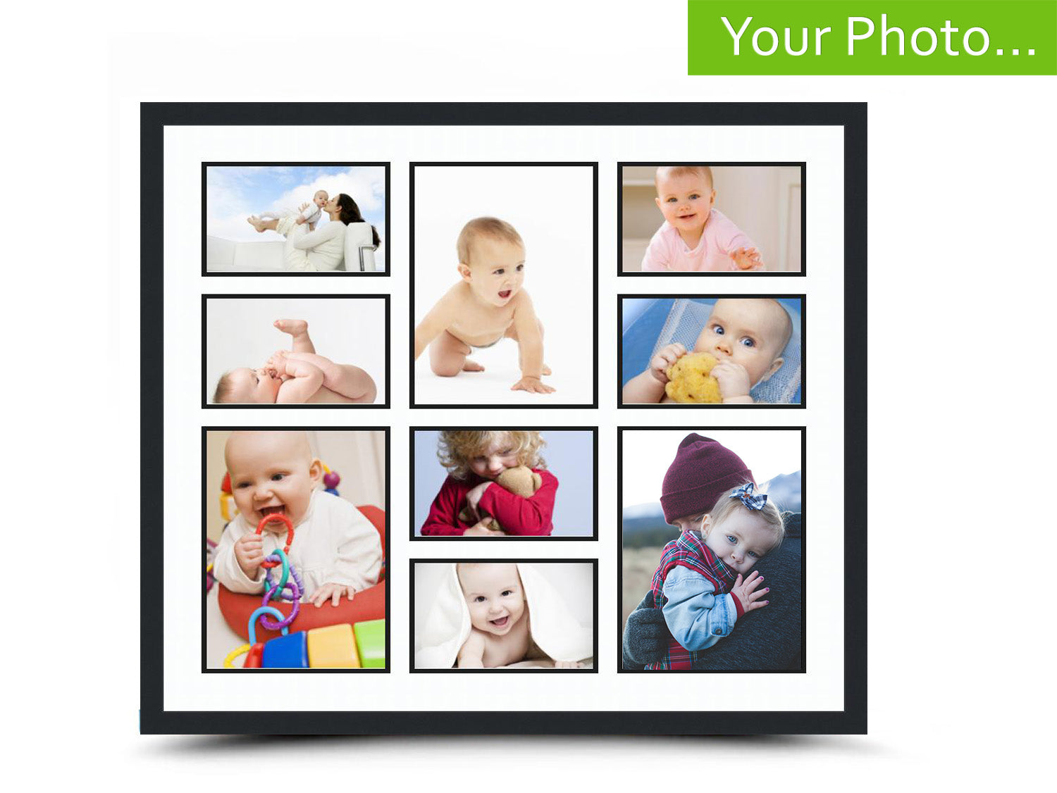 Your Photos in a Custom Collage Frame - Find Unique Christmas Gifts