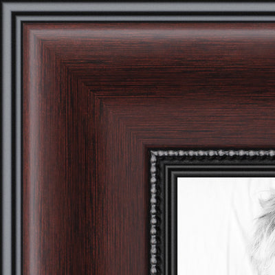 Your Photo In A Custom Frame Mahogany Details