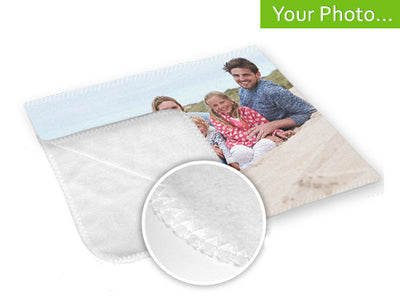 Your Photo On A Blanket