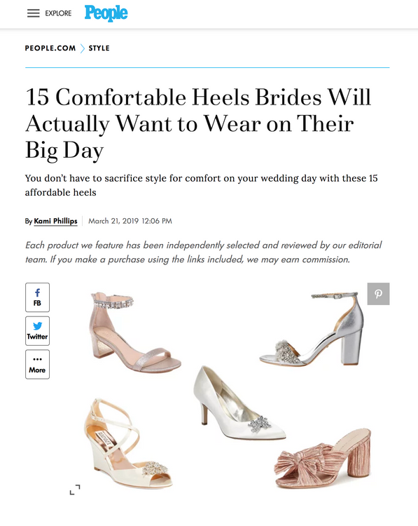 People.com - Comfortable Bridal Shoes